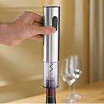 Rechargeable Electric Blue Stainless Steel Corkscrew
