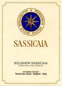Super Tuscan, 2009. Sassicaia